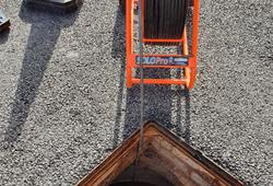 Blocked drain CCTV survey equipment